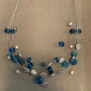 Lia Sophia Necklace Caspian Sea Silver/Blue Beads